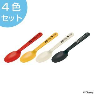 スプーン ミッキーマウス 4本入り プラスチック製 ミッキーチアフル ( アウトドア レジャーグッズ BBQ )|colorfulbox