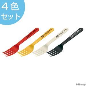 フォーク ミッキーマウス 4本入り プラスチック製 ミッキーチアフル ( アウトドア レジャーグッズ BBQ )|colorfulbox