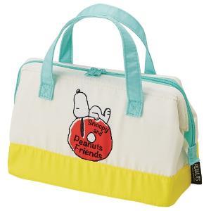 開け口が広く、お弁当の出し入れがしやすいスヌーピーの保冷バッグです。内側はアルミ蒸着素材で、飲食物の...