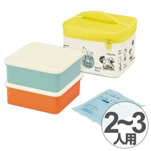 お弁当箱 行楽ランチセット 2段 保冷バッグ付き ファミリーランチボックス スヌーピー ともだち ( お重 ランチボックス 運動会 )|colorfulbox