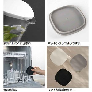 キントー KINTO 冷水筒 ピッチャー 1L OVA ウォーターカラフェ ( アクリル製 麦茶ポット 冷水ポット 水差し ) colorfulbox 04