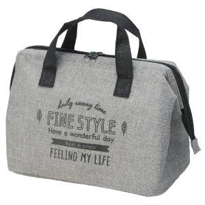 ランチバッグ 保冷バッグ ファインスタイル がま口タイプ 麻風生地 ( お弁当バッグ クーラーバッグ トートバッグ )|colorfulbox