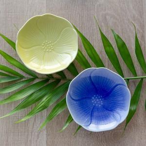 プレート フラワー S 9cm 食器 陶器 ( 皿 小皿 豆皿 電子レンジ対応 お皿 薬味皿 )|colorfulbox