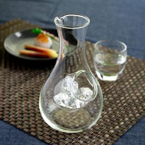 冷酒器 ガラス 2合 冷酒 徳利 氷 ポケット 酒器 食器 ( 冷酒徳利 冷酒カラフェ 氷ポケット付き ) colorfulbox