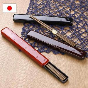 箸・箸箱セット 和MON 18cm ディープカラー ( お箸 箸箱 お弁当用箸 )|colorfulbox