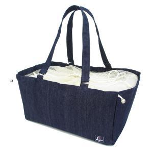 マハロインナーバッグ レジバッグ アウトドア ショッピングバッグ 買い物かご デニム ( エコバッグ レジカゴバッグ レジかごバッグ )|colorfulbox