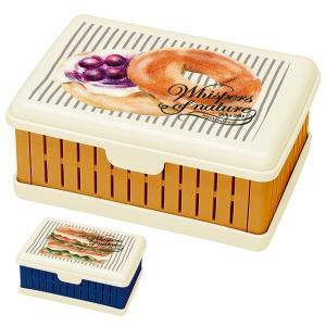 パン柄のかわいいサンドイッチケースです。コンパクトに折りたたむことができ、持ち帰りが快適です。中には...