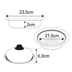 蒸し皿 フライパンにのせて簡単蒸しプレート ドーム型 24〜26cm用 日本製 ( 蒸し器 蒸し目皿 調理用品 ) colorfulbox 03