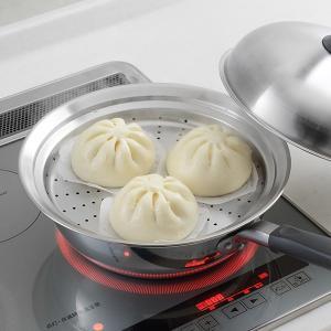 蒸し皿 フライパンにのせて簡単蒸しプレート ドーム型 24〜26cm用 日本製 ( 蒸し器 蒸し目皿 調理用品 ) colorfulbox 05