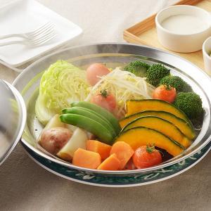 蒸し皿 フライパンにのせて簡単蒸しプレート ドーム型 24〜26cm用 日本製 ( 蒸し器 蒸し目皿 調理用品 ) colorfulbox 09