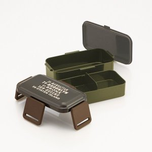 お弁当箱 ふわっと2段弁当箱 ブルックリン 2段 850ml ( ランチボックス ドーム型 食洗機対応 ) colorfulbox 03