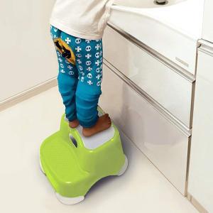 ステップ 踏み台 子供 2段 高さ21cm 耐荷重100kg 滑り止め加工 プラスチック ( 子供 ...