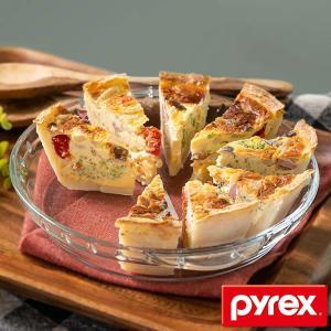 グラタン皿 大皿 26cm パイレックス Pyrex 丸 耐熱ガラス オーブンウェア ディッシュ 皿...