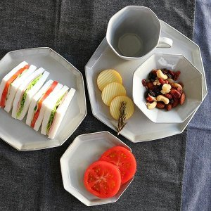 ボウル 13cm 洋食器 アミューズ 陶器 食器 笠間焼 日本製 ( 食洗機対応 電子レンジ対応 皿 お皿 小皿 八角形 )|colorfulbox|10