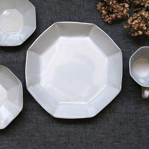パスタプレート 23cm 洋食器 アミューズ 陶器 食器 笠間焼 日本製 ( 食洗機対応 電子レンジ対応 皿 お皿 深皿 八角形 )|colorfulbox|12