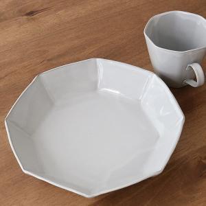 パスタプレート 23cm 洋食器 アミューズ 陶器 食器 笠間焼 日本製 ( 食洗機対応 電子レンジ対応 皿 お皿 深皿 八角形 )|colorfulbox|10