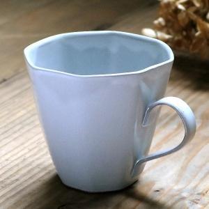 マグカップ 320ml アミューズ コップ マグ 陶器 笠間焼 日本製 ( 食洗機対応 電子レンジ対応 カップ 八角形 )|colorfulbox
