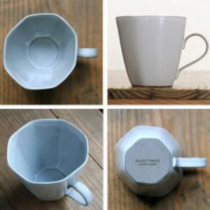 マグカップ 320ml アミューズ コップ マグ 陶器 笠間焼 日本製 ( 食洗機対応 電子レンジ対応 カップ 八角形 )|colorfulbox|03