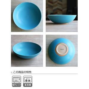 ボウル 21cm Blueシリーズ 陶器 食器 笠間焼 日本製 ( 食洗機対応 お皿 電子レンジ対応 皿 カレー皿 パスタ皿 )|colorfulbox|03