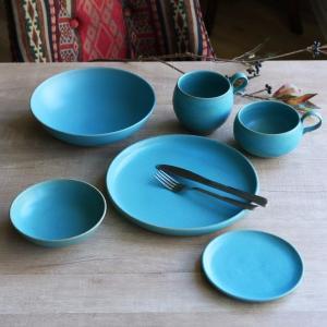 ボウル 21cm Blueシリーズ 陶器 食器 笠間焼 日本製 ( 食洗機対応 お皿 電子レンジ対応 皿 カレー皿 パスタ皿 )|colorfulbox|04
