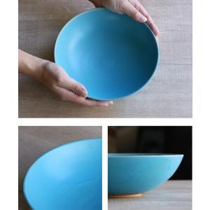 ボウル 21cm Blueシリーズ 陶器 食器 笠間焼 日本製 ( 食洗機対応 お皿 電子レンジ対応 皿 カレー皿 パスタ皿 )|colorfulbox|06