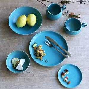 ボウル 21cm Blueシリーズ 陶器 食器 笠間焼 日本製 ( 食洗機対応 お皿 電子レンジ対応 皿 カレー皿 パスタ皿 )|colorfulbox|07