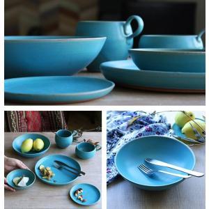 ボウル 21cm Blueシリーズ 陶器 食器 笠間焼 日本製 ( 食洗機対応 お皿 電子レンジ対応 皿 カレー皿 パスタ皿 )|colorfulbox|08