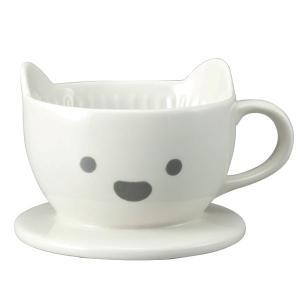 ドリッパー コーヒー しろくま 一人用 おもしろ食器