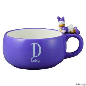 スープカップ デイジーダック おやすみ 390ml 持ち手付き 磁器 食器 キャラクター ( 食洗機対応 カップ 電子レンジ対応 マグ コップ デイジー )|colorfulbox