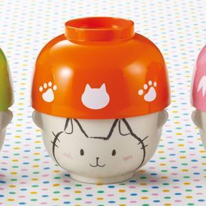 汁椀 茶碗 セット ミニ ネコ どうぶつシリーズ 磁器