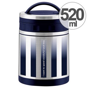 保温弁当箱 デリカポット スープジャー 520ml グラデストライプ ( お弁当箱 ランチポット ランチジャー )|colorfulbox