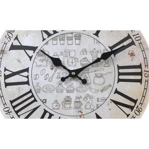 掛け時計 33cm カフェタイム 3 モチーフクロック Cafe Time ( アナログ 時計 壁掛け時計 インテリア 雑貨 )|colorfulbox|08