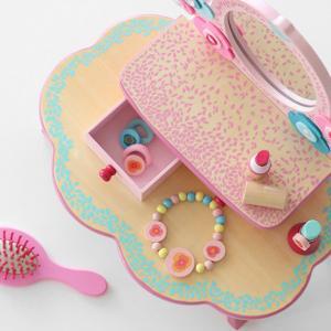 【ポイント最大26倍】ドレッサー おもちゃ フローラドレッシングテーブル 木製 おままごと ジェコ DJECO ( ままごと セット お化粧ごっこ 鏡台 )|colorfulbox|04