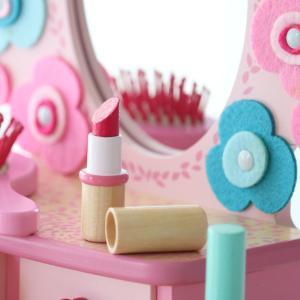 【ポイント最大26倍】ドレッサー おもちゃ フローラドレッシングテーブル 木製 おままごと ジェコ DJECO ( ままごと セット お化粧ごっこ 鏡台 )|colorfulbox|05