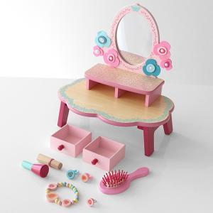 【ポイント最大26倍】ドレッサー おもちゃ フローラドレッシングテーブル 木製 おままごと ジェコ DJECO ( ままごと セット お化粧ごっこ 鏡台 )|colorfulbox|07