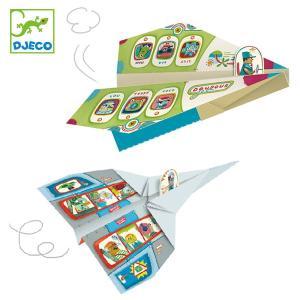 折り紙 プレイン のりもの おもちゃ 知育玩具 ジェコ DJECO ( おりがみ 折紙 シール付き ...