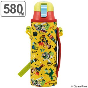水筒 子供 トイ・ストーリー 直飲み ワンプッシュボトル カバー付き ショルダー付き 保冷 580ml ( ステンレスボトル 保冷 ステンレス )|colorfulbox