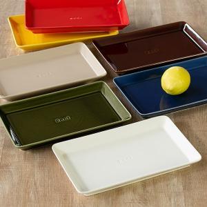 角皿 26cm プレート 箸休め 中皿 陶器 食器 日本製 ( 食洗機対応 お皿 皿 電子レンジ対応 長角皿 角型 ) colorfulbox