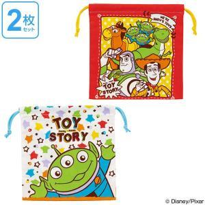 巾着袋 トイ・ストーリー 子供 キャラクター マチ付き巾着 2枚入り ( 巾着 幼稚園 保育園 給食袋 )|colorfulbox