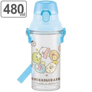 水筒 子供 すみっコぐらし おべんきょう 直飲み プラスチック 480ml 子供 ( 食洗機対応 幼...
