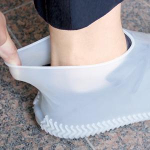 シューズカバー L 靴カバー 防水 シリコン 26〜28cm ( くつカバー レインシューズ 雨具 )|colorfulbox|03