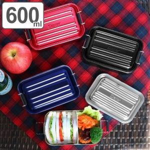 お弁当箱 1段 アルミ SKATER ふわっとランチボックス 仕切り付 600ml ( 弁当箱 スケーター ランチボックス アルミ弁当 アルミランチボックス )|colorfulbox