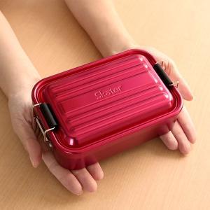 お弁当箱 1段 アルミ SKATER ふわっとランチボックス 仕切り付 600ml ( 弁当箱 スケーター ランチボックス アルミ弁当 アルミランチボックス )|colorfulbox|04