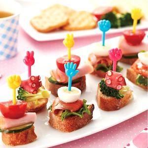 お弁当やパーティーに大活躍のじゃんけんピックです。ロングサイズのピックなのでピンチョスとしてイベント...