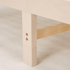 ベッド 木製 高さ2段調節 セミダブル 高さ2段調節 コンセント付 ( ベット フレーム 高さ 調節 調整 棚 収納 付き )|colorfulbox|11