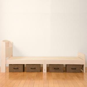 ベッド 木製 高さ2段調節 セミダブル 高さ2段調節 コンセント付 ( ベット フレーム 高さ 調節 調整 棚 収納 付き )|colorfulbox|13