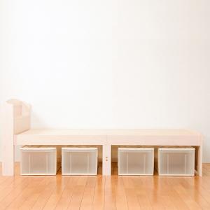 ベッド 木製 高さ2段調節 セミダブル 高さ2段調節 コンセント付 ( ベット フレーム 高さ 調節 調整 棚 収納 付き )|colorfulbox|14