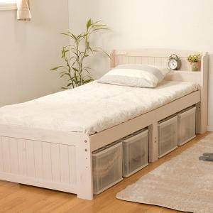 ベッド 木製 高さ2段調節 セミダブル 高さ2段調節 コンセント付 ( ベット フレーム 高さ 調節 調整 棚 収納 付き )|colorfulbox|16