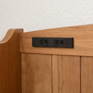 ベッド 木製 高さ2段調節 セミダブル 高さ2段調節 コンセント付 ( ベット フレーム 高さ 調節 調整 棚 収納 付き )|colorfulbox|19