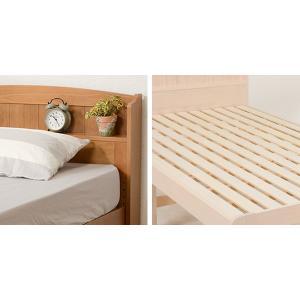 ベッド 木製 高さ2段調節 セミダブル 高さ2段調節 コンセント付 ( ベット フレーム 高さ 調節 調整 棚 収納 付き )|colorfulbox|06